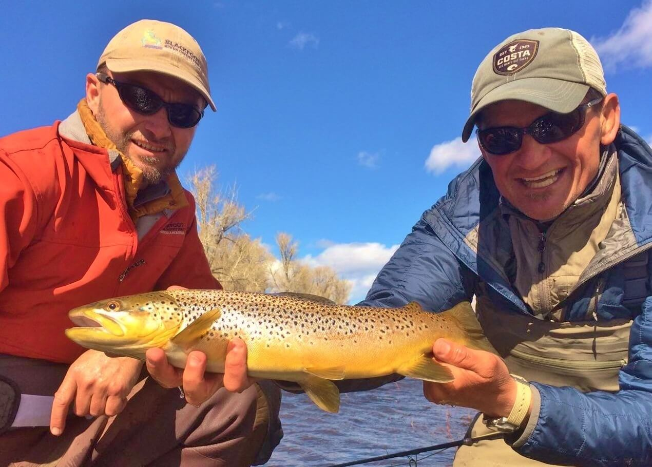 Big Hole River fly fishing for Montana brown trout.