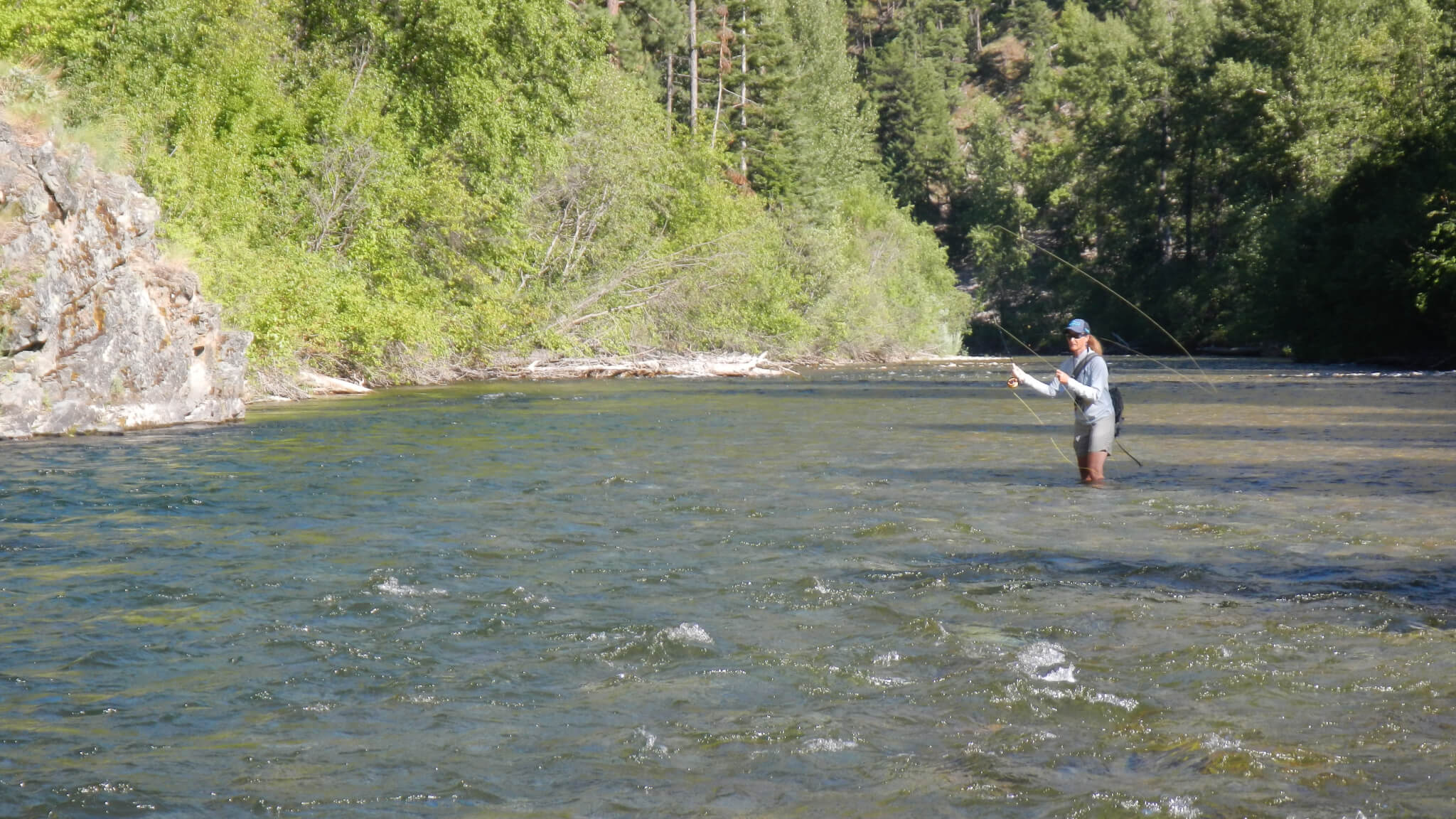 Montana small stream fly fishing.