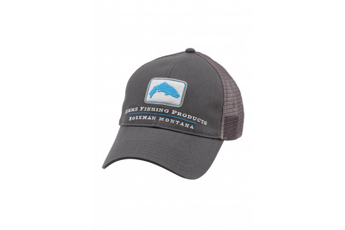 fe999842a8a Simms Trout Trucker Hat - Anvil - Blackfoot River Outfitters